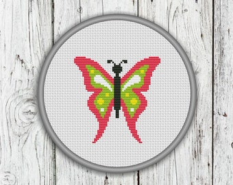 Butterfly Counted Cross Stitch Pattern - PDF, Instant Download