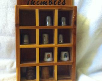 Vintage Thimbles and Display Box