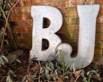 Oversized Letter //Large Wall Letter/ Large Letter//J / B/ Rustic / Galvanized Letter/ Industrial/ Wedding Prop//Wall Letter