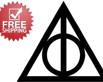 Harry Potter Deathly Hallows vinyl Decal sticker FREE SHIPPING