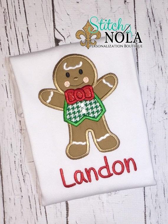 Gingerbread  Man Shirt, Gown, Romper or Bodysuit