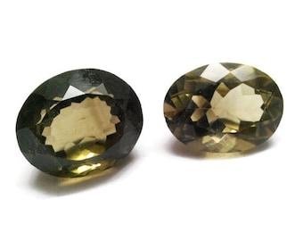 39.05ct natural smoky topaz Oval shape 2 pcs, good quality stone, Loose gemstone