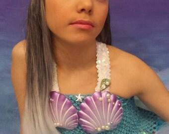 Little Mermaid seashell headband, mermaid Headpiece, seashell crown, under the sea theme wedding hair accessories, mermaid birthday crown