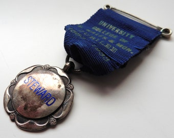 Silver steward medal - University college of South Wales and Monmouthshire Jubilee 1933