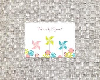 Pinwheel Thank You Note Card