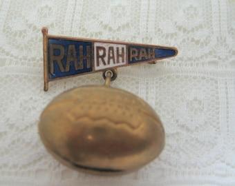 Vintage Brass and Enamel Rah Rah College Cheerleading Pin