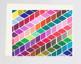 Colorful print Greeting Card