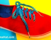 Loom Knitting Pattern Shoelaces with a Spool Loom. Includes step by step video tutorial