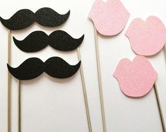 Lips & Mustache Props