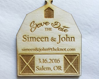 25 Barn save the date magnets - wedding save the date inviations