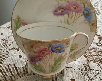 Royal Standard Somerset Anemones (1949) cup and saucer