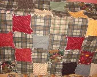 Full Flannel Rag Quilt