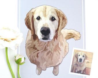 Custom Dog Print, Dog Portrait, Pet Portrait Custom, Custom Dog Portrait, Customized Dog Portrait, Custom Dog Art, Pet Portrait, My Dog Art