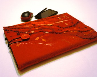 Felted laptop case, Handmade Laptop bag sleeve custom size, 100 % wool felt