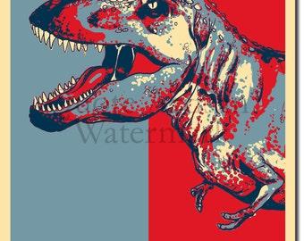 Tyrannosaurus Rex Original Art Print - 12x8 Inch Photo Poster Gift - T-Rex Dinosaur