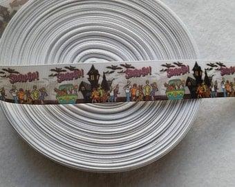Scooby-Doo Custom Ribbon 1 Inch For 1 Yard Grosgrain