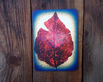 Rustic Leaf Blank Card. Nature Greeting Card.