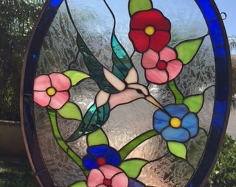 Cactus Amp Desert Quail Style Stained Glass Panel By