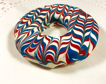 Homemade Dog Treats: Red White and Blue Dog Doughnuts - Gourmet Dog Cookies