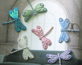 Wholesale Lot   12pcs  cartoon dragonfly  sewing iron on patch 4cm