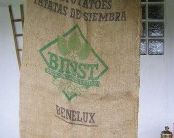 A French Vintage Hessian Potato Sack.