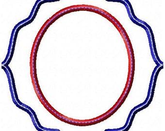 Applique Frames  -  2 Different Frames - Monogram Frame, machine embroidery Design