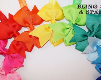 Plain Bow headband - 14 inch headband Grosgain ribbon