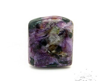 37.70Cts. Natural Charoite Cabochon, Size 24x21x7mm, Untreated, Lavender Color Cabochon, Smooth Polished, Fancy Shape