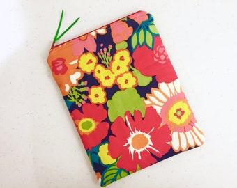 Vibrant Floral iPad Case, iPad Sleeve, Tablet Case, Tablet Sleeve