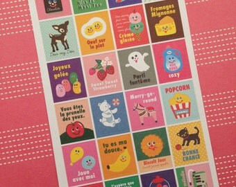 Yummy, Street stickers, paper (Paper) 16.5 cm long, 9 cm wide