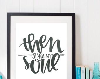 then sings print