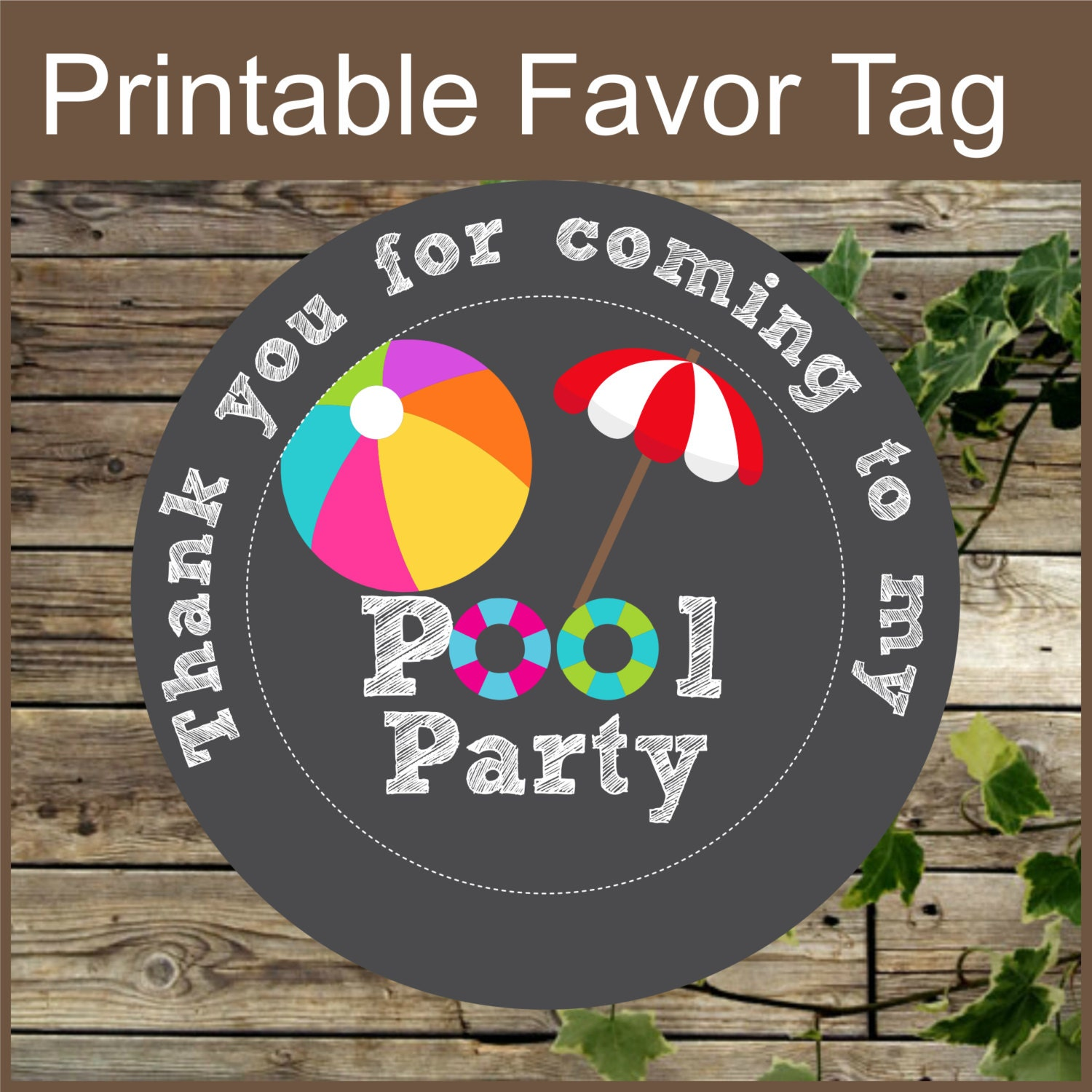 It is an image of Delicate Printable Party Favor Tags