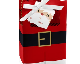 Jolly Santa Favor Boxes - Custom Holiday Party Supplies - Set of 12