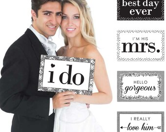 I Do Wedding Photo Booth Prop Kit - 10 Ct.