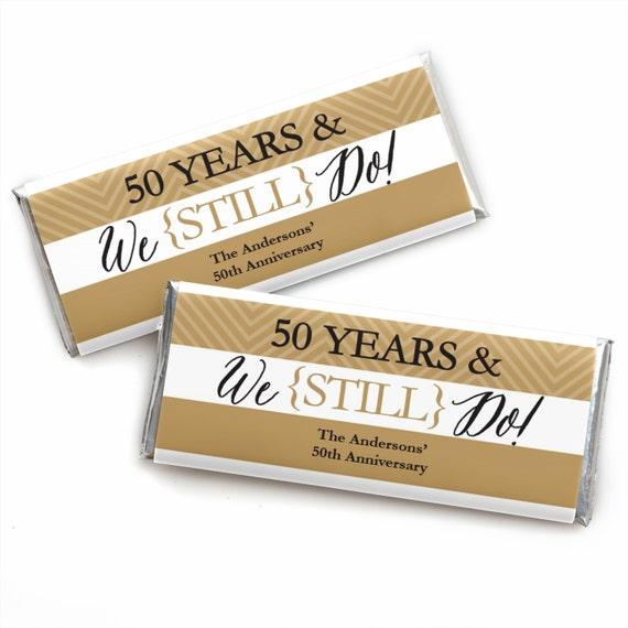 24 we still do 50th wedding anniversary custom candy bar wrappers