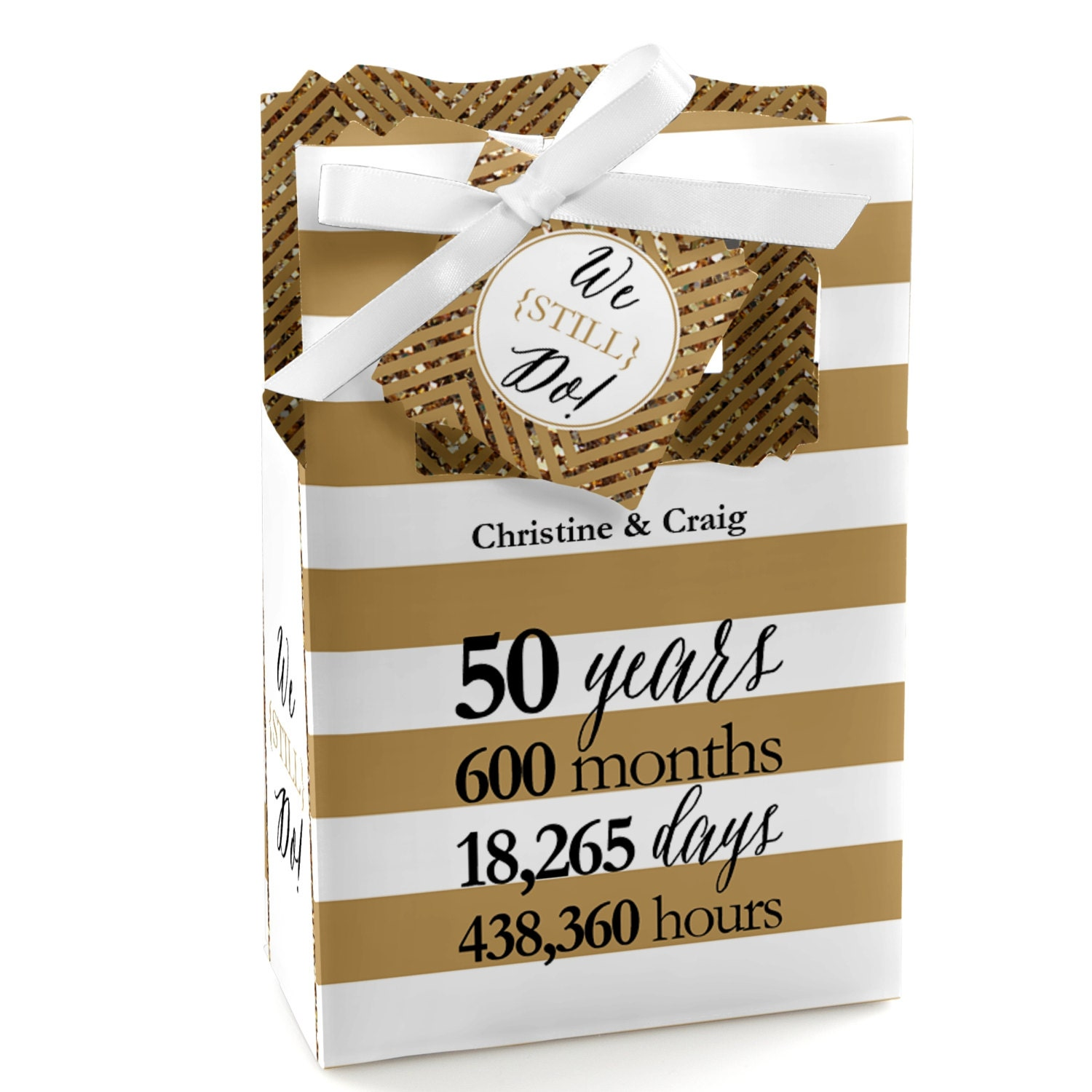 We still do 50th wedding anniversary favor boxes custom for 50th wedding anniversary party favors