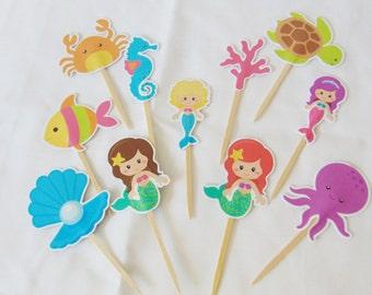 Cute Handmade Mermaid Toppers