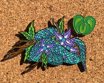 Electric Eden Serpent and Apple of Knowldge pin set V2 Spring version