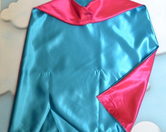 Cape. Plain Cape. Reversible Cape. Turquoise and Pink Cape. Kids Cape. Quick Ship Cape.
