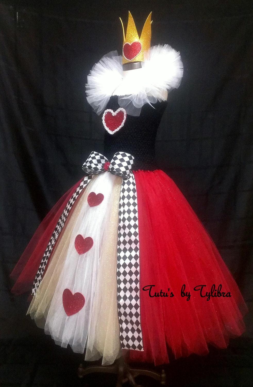 Queen of Hearts inspired Tutu Dress Costume Queen of Hearts
