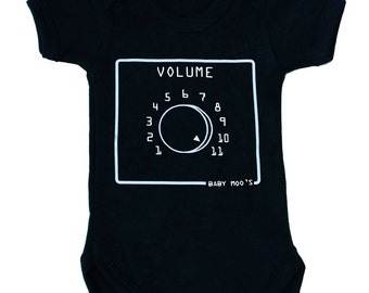 Spinal Tap Inspired Volume 11 Control / Dial Baby Grow /Bodysuit - Music Lover Baby Gift / Baby Vest Boys or Girls