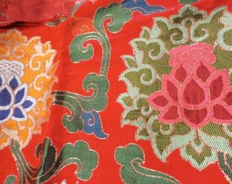 Red Pema Tibetan Silk limited yardage pieces