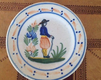 Quimper Plate - French Butter Plate - Side Plate - Collectible