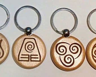 Avatar nation wooden keychains or necklaces