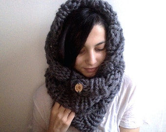 Hand knit infinity scarf | Winter scarf | Knitted wool scarf |  | Knit accessories | chunky bulky warm scarf | Big scarf | Hot neckwarmer |