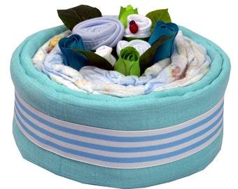 Blue Bamboo Nappy Cake Mini
