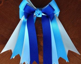 Horse Show Bows/Classic Blue/Equestrian/Equitation