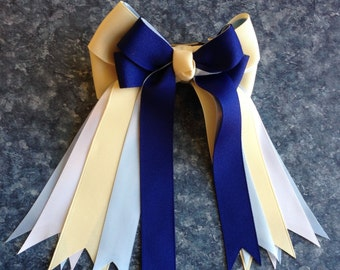 Horse Show Bows/classic blue equestrian clothing/gift/Ready2Mail