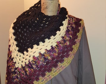 handmade Crochet women's triangle scarf