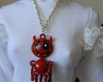 BJD Red Devil Necklace